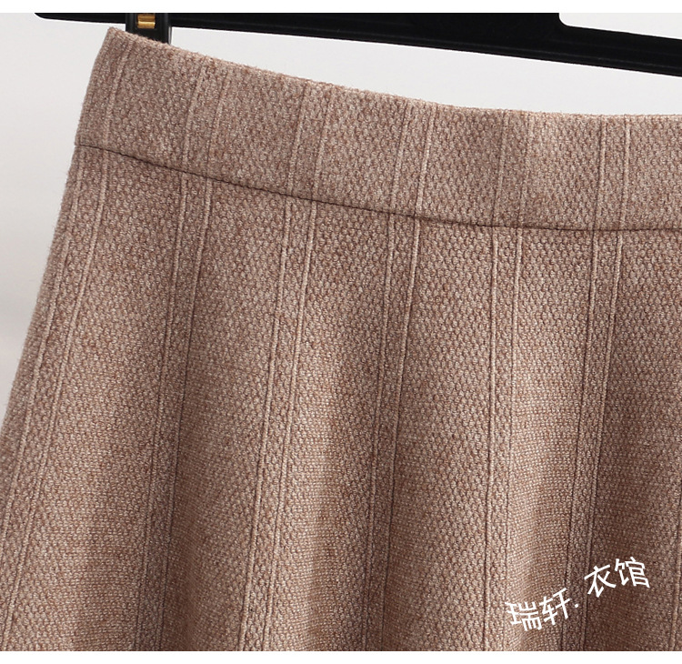 High Quality Thick Warm Winter Knitted Women 39 s Skirt Korean Solid Color Elastic High Waist Mini Skirts School Jupe Femme Faldas in Skirts from Women 39 s Clothing