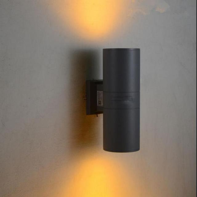 Yard 12W Led IP65 Waterproof Outdoor lighting led panel outdoor Wall Lamp waterproof Garden lighting Cylindrical Porch Lights