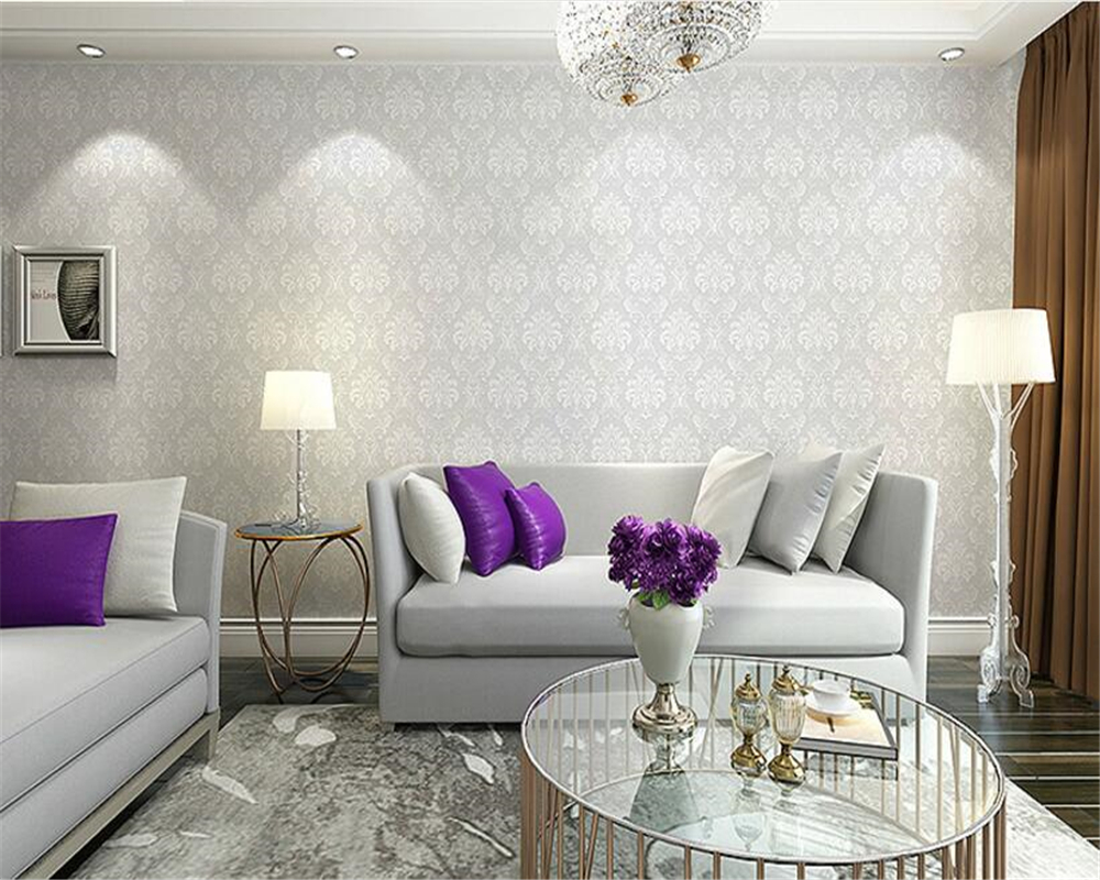 beibehang papel de parede Non-woven three-dimensional 3D classic wallpaper living room bedroom Damascus TV sofa background wall beibehang papel de parede retro classic apple tree bird wallpaper bedroom living room background non woven pastoral wall paper