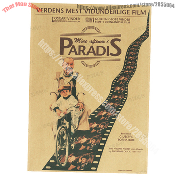 Nuovo cinema Paradiso Classic Vanna Paoli 1988 Movie Kraft Poster Bar Cafe Living Room Dining room Wall Decorative image
