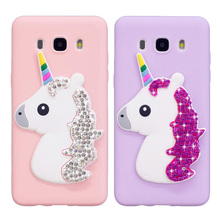 Glitter Phone Case For Samsung Galaxy J5 2016 J510 Soft Silicone Bling Diamond Unicorn Cover For Samsung Galaxy J7 2016 J710 J3 wiiyii hd 4 inch dash camera fhd 1080p g sensor wide view angle 170 degrees car dvr monitoring dash cam 5