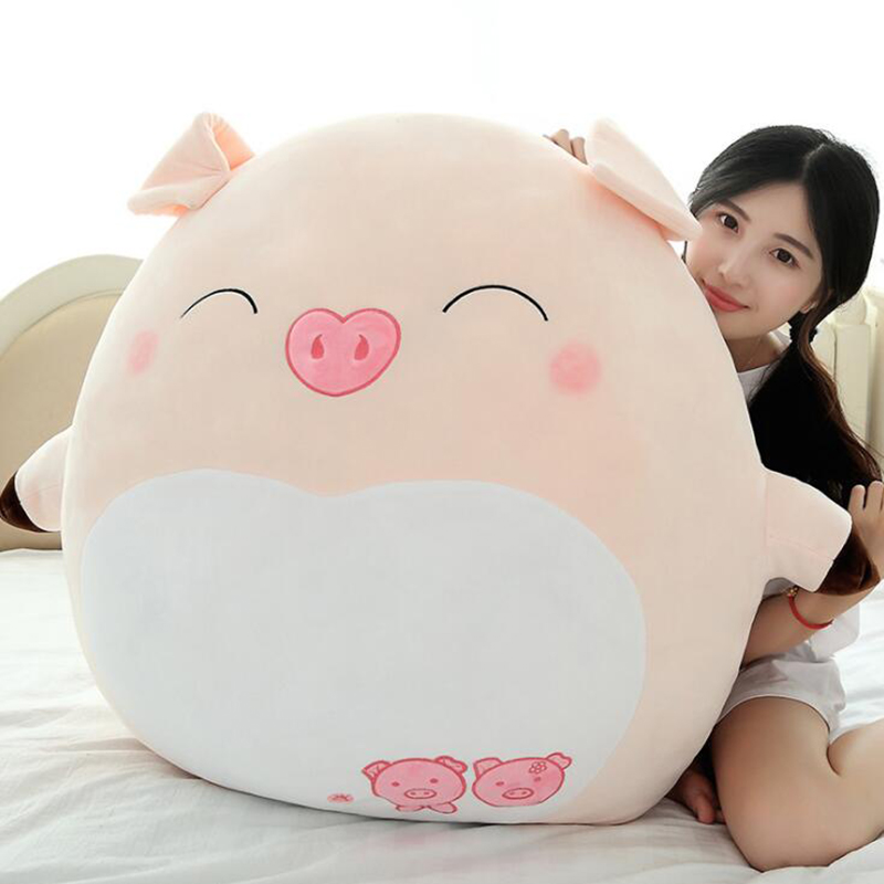 60cm Cartoon Expression Pig Plush Toy Pink Pig Pillow Year Of The Pig Mascot Baby Appease Sleeping Doll Birthday Gifts