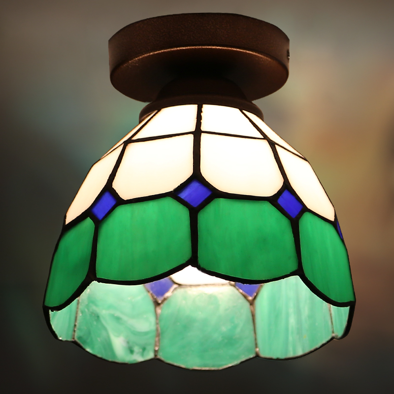 Vintage Color Glass Ceiling Lights Lamparas De Techo lustre Luminaria Abajur Home Lighting Avize Luminaire Corridor Balcony L luminaria avize modern ceiling lights led lights for home lighting lustre lamparas de techo plafon lamp ac85 260v lampadari luz