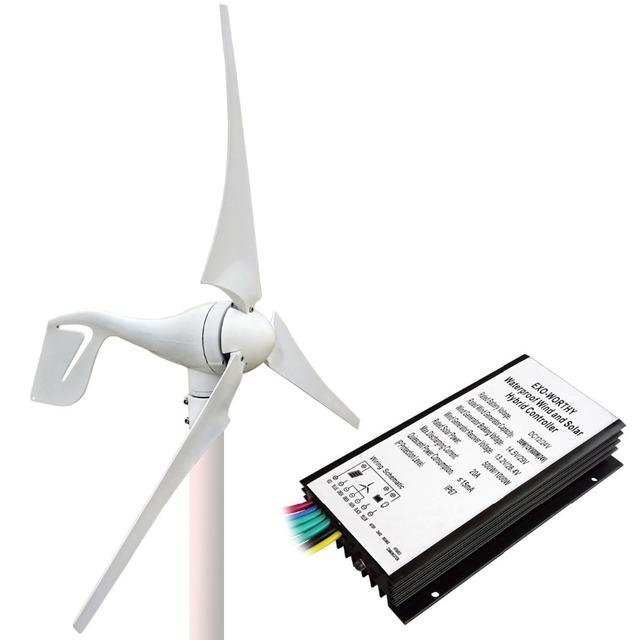 1400W Kit:400W Wind Turbine Generator&10*100W Solar Panel&1.5KW 24-220V Inverter