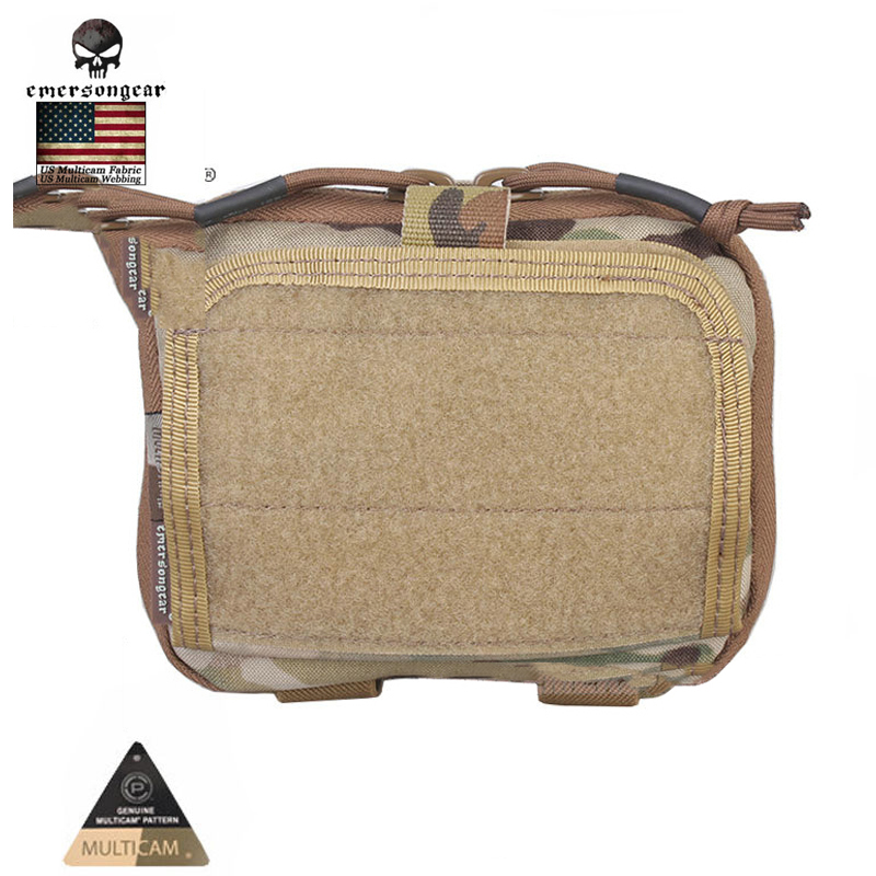 Emersongear Tactical Pouch ADMIN Multi-purpose Map Bag Military Army MOLLE Combat Gear EM8506C MC Genuine Multicam Fabric admin area