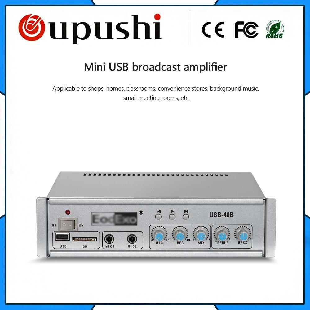 Free shipping USB-40B 40 watt mini amplifier with usb and sd Cheap power amplifier Multifunctional power amplifier цена