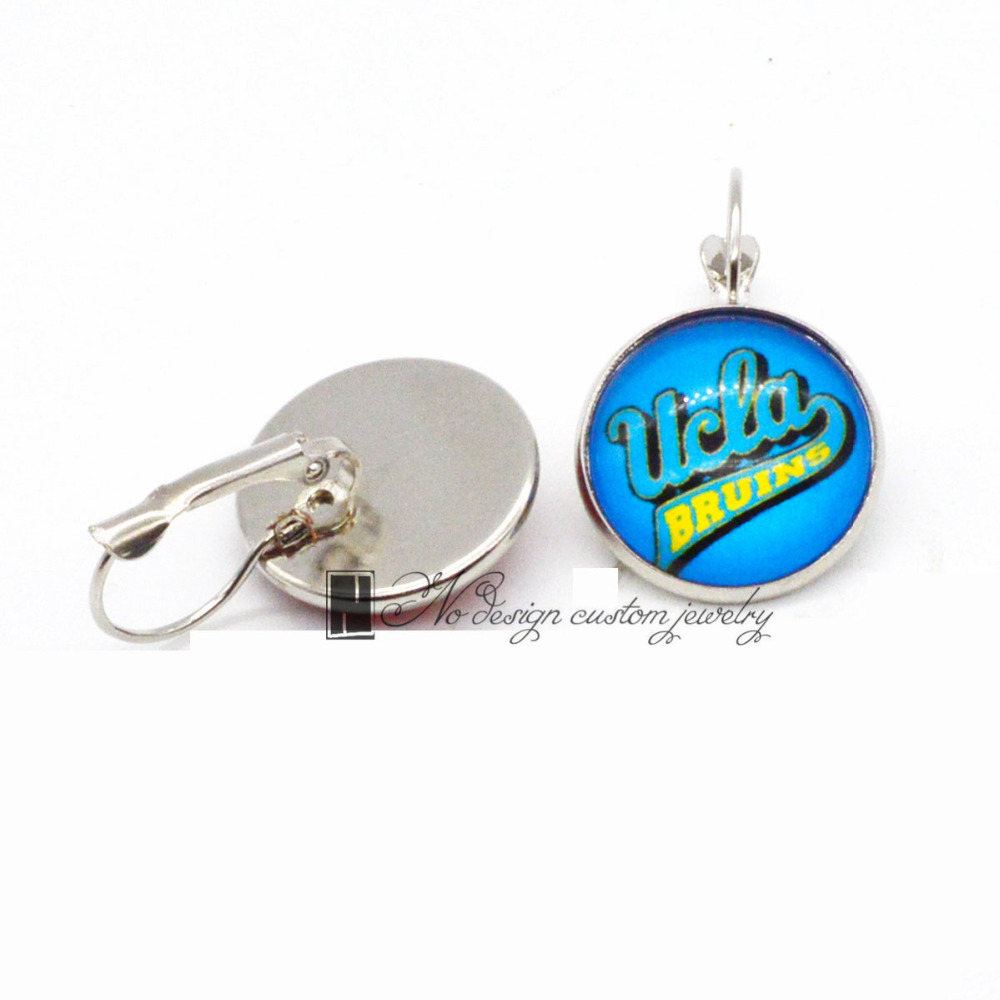<font><b>UCLA</b></font> Bruins NCAA Basketball Charms Earings French Hook Earrings for Women Gift 10pcs(5 Pair)/Lot GE055 image