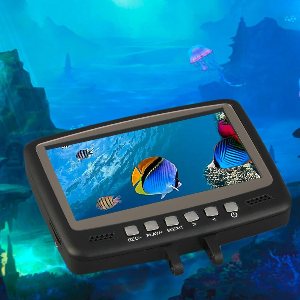 7HB-DVR Fish Finder Video Underwater Fishing Camera 4.3 Monitor Night Vision 15m