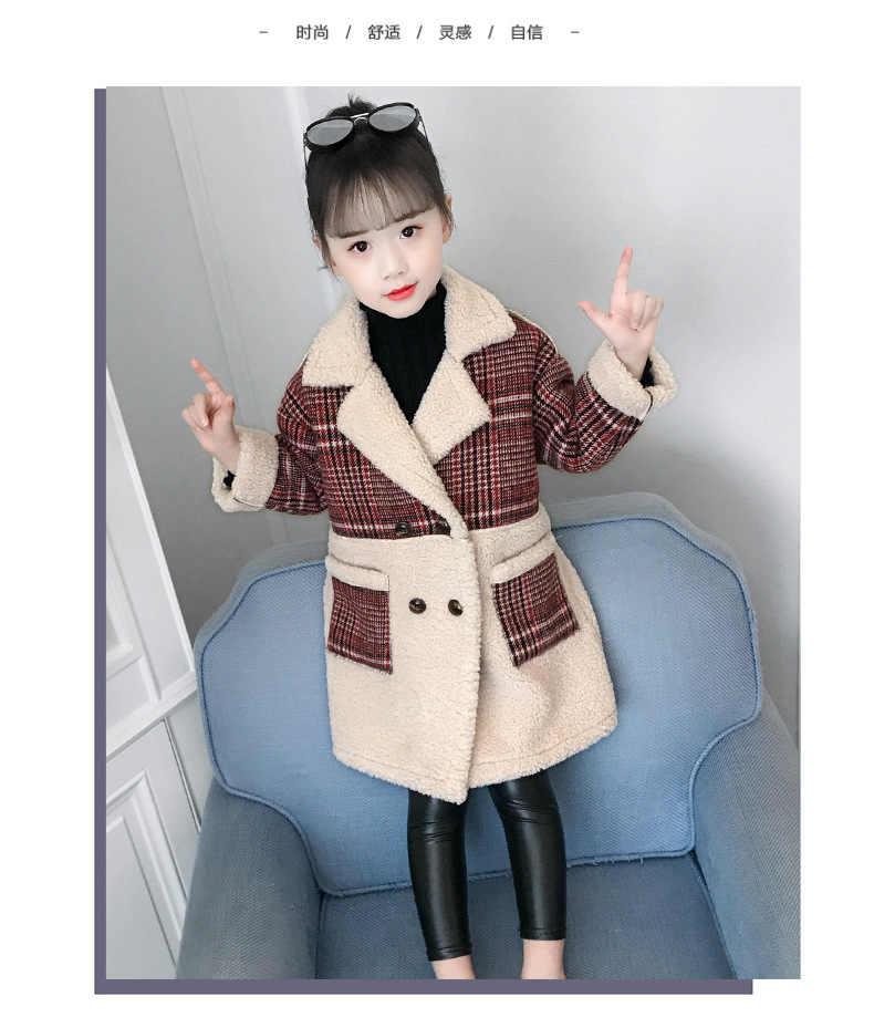 2018 пальто для девочек, шерстяная длинная куртка, зимняя одежда для больших девочек 10 лет