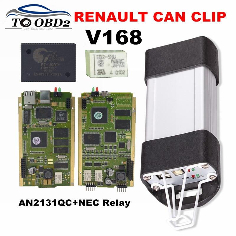 Цена за 2017 высокое качество AN2131QC Cypress PCB золота Renault может закрепить V168 полный чип стабильное Функция Авто диагностический сканер для Renault