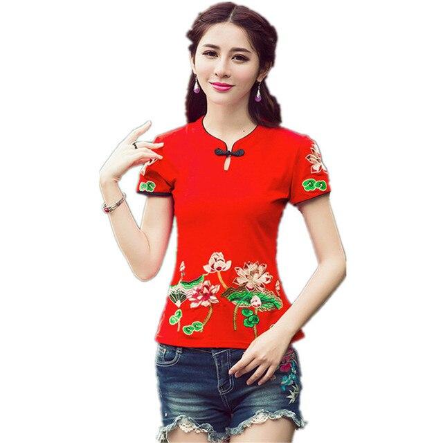 2017 Качество 5XL Женщины Блузка Рубашка Хлопка Летние Дамы Старинные Mujer Blusas Camisa Feminina Тело Топы Ти Вышивка Clothing