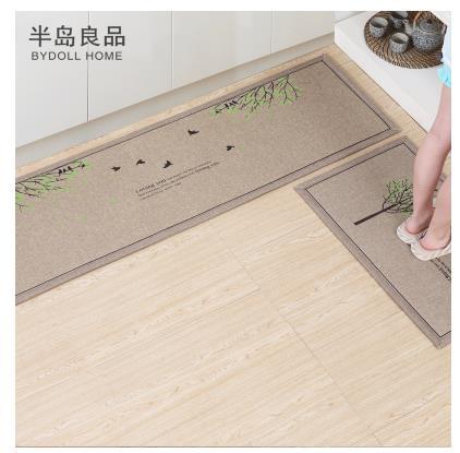 50X80 CM + 50X160 CM/Set paillasson antidérapant tapis de cuisine/tapis de bain accueil entrée tapis de sol couloir tapis tapis de cuisine - 5