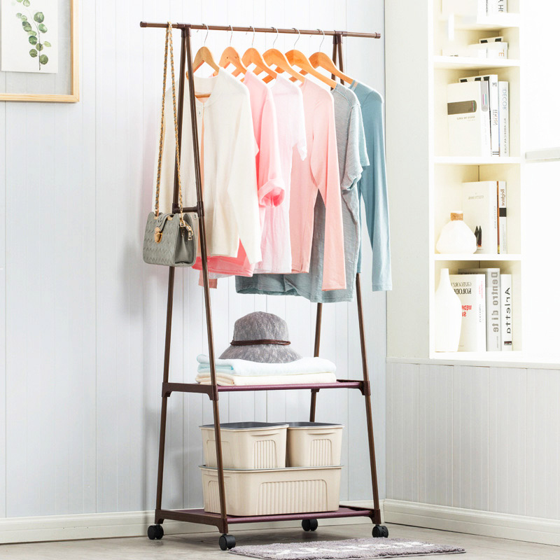 Simple Triangle Coat Rack Nonwovens Steel Pipe Easy
