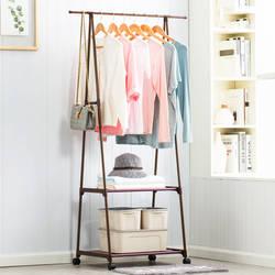 Простой Треугольники вешалка нетканых материалов Сталь трубы простота сборки гостиная двигаться вешалка для одежды шкаф украшение дома