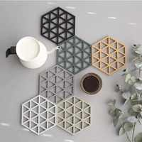 Coaster Silicone Molde de Concreto Diamante Stripe Design em forma de Molde Bandeja de Resina Epóxi diy Artesanato de Gesso Cimento