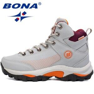 Image 1 - BONA yeni popüler stil kadın yürüyüş ayakkabıları açık keşfetmek çok Fundtion yürüyüş Sneakers aşınma direnci spor ayakkabılar kadınlar için
