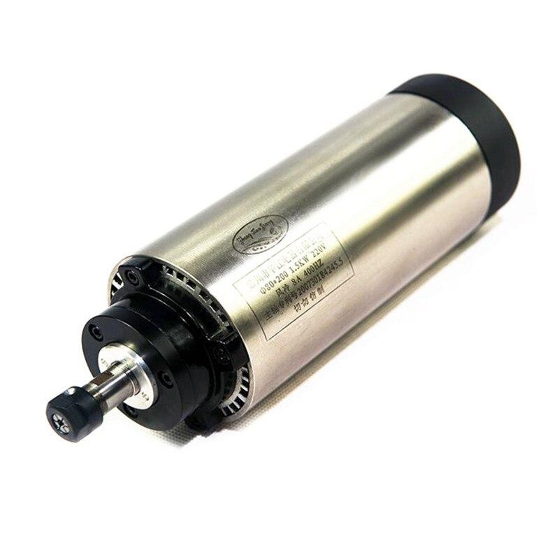 Air-Cooled Spindle Motor 220V for cnc engraving machine 800w and 1.5kw air cool spindle spindle 200w motor air cooling cnc spindle dc motor cnc engraving machine er11 3 175mm collets machine tool