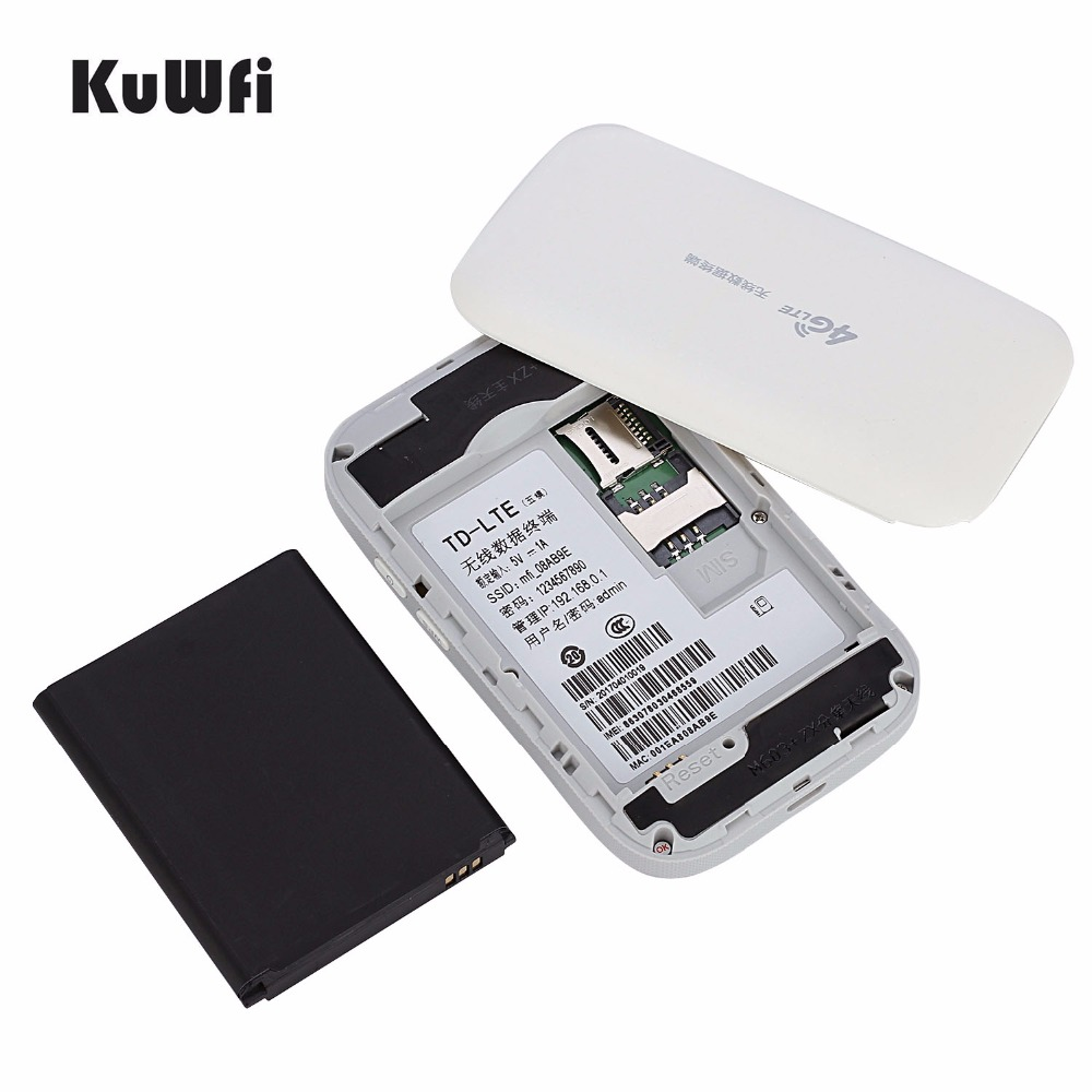 Image 4 - KuWFi Unlocked Mini 4G WIFI Router 150Mbps Wireless LTE Router Mobile WiFi Hotspot 3G 4G WiFi Router With SIM Card Slot-in 3G/4G Routers from Computer & Office