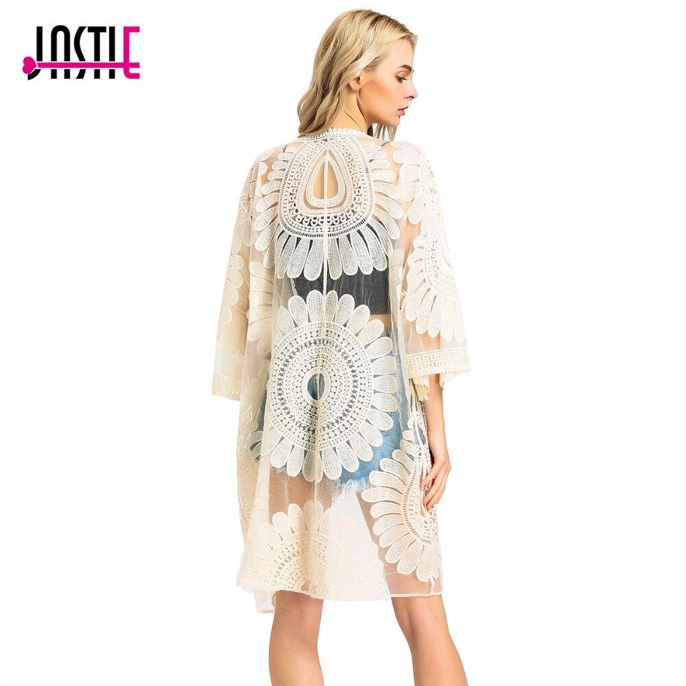 ⊰Jastie girasol kimono cubrir verano cardigan floral crochet ...