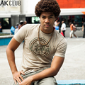 AK CLUB Brand T-shirt Men Casual Khaki Cuba Libre Motorcycle Dairy Printed T Shirt 100% Cotton Tshirt For Men T-shirt 1400028