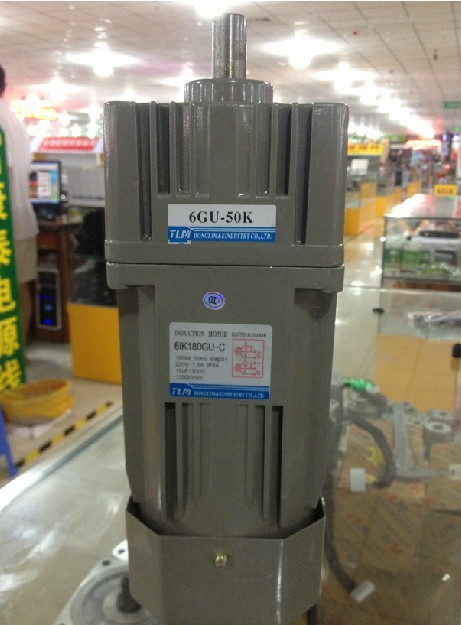цена на New Gear Motor /gearbox motor 6IK180GU-C in 220 VAC out 180W reduction ratio1:50 have 18 kinds Vertical AC motor with a fan