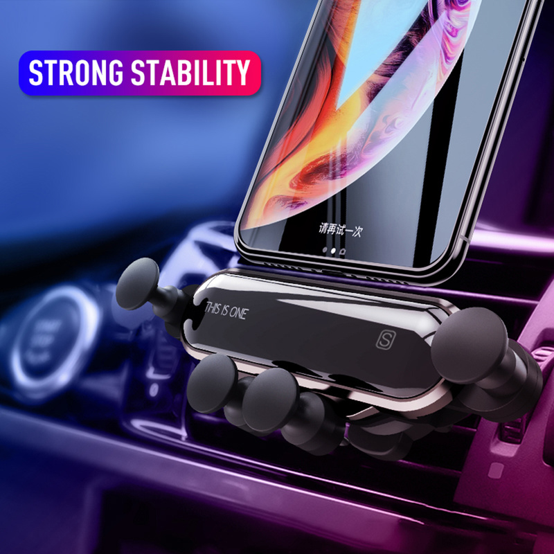 Car Phone Holder For Iphone X Xs Max Samsung S9 Car Air Vent Mount Gravity Car Holders For Xiaomi Huawei One Mobile Phone Stand
