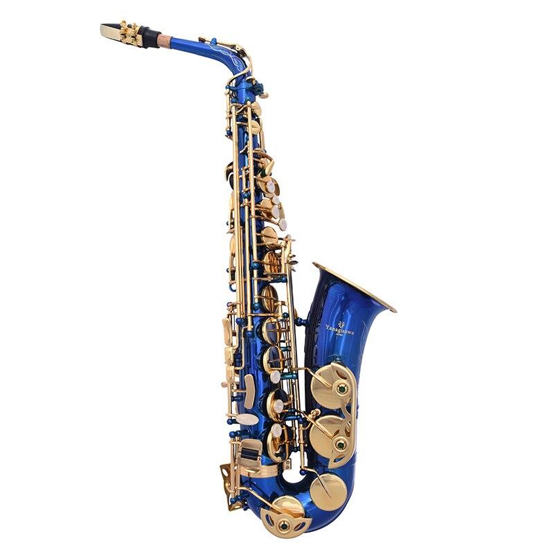 Musical Instrument Nouveau Bleu alto Saxophone Japonais marque Yanagisawa A-W02 E flat Saxophone alto Professionnel livraison gratuite