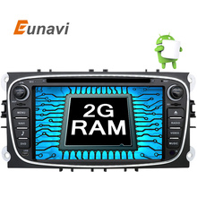 Eunavi Android 6.0 Quad Core 2 Din Car DVD Player GPS For FORD Mondeo S-MAX Connect FOCUS 2 2008 2009 2010 2011 Radio in dash