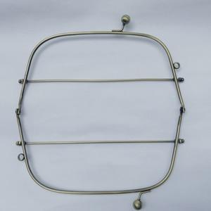 Image 3 - 23cm bronze color iron wire women DIY bag making metal clasp kiss buckle purse frame hardware accessories 3sets/lot