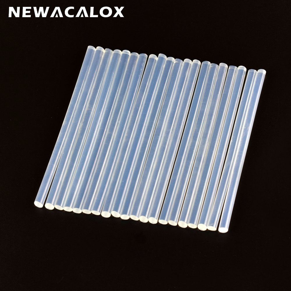 NEWACALOX 20pc 7mm White Hot Melt Glue Sticks Repair Accessories For Electric Glue Gun Craft Album Repair DIY Hand Tools