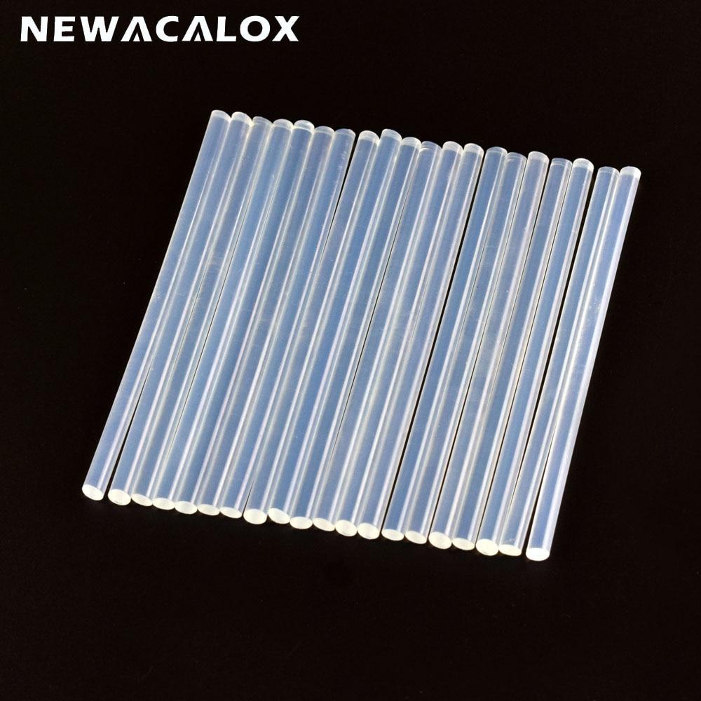 NEWACALOX 20pc 7mm White Hot Melt Glue Sticks Repair Accessories For Electric Glue Gun Craft Album Repair DIY Hand Tools