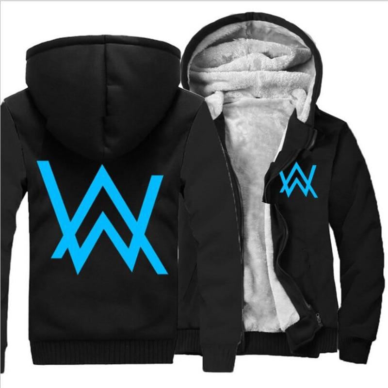2017 Hoody Hoodies Men Winter Jackets and Coats Faded Alan Walker Hoodie M-5XL Luminous  ...