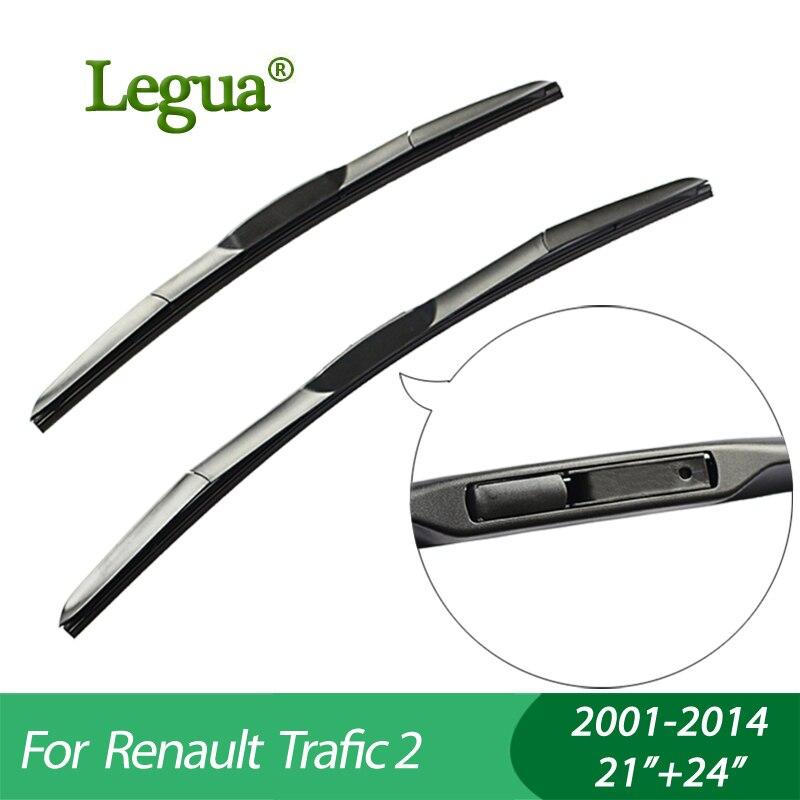 "Legua Wiper blades for Renault  Trafic 2(2001-2014), 21""+24"",car wiper,3 Section Rubber, windscreen wiper, Car accessory"