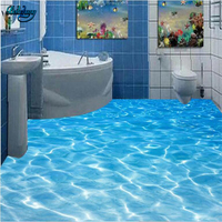 Beibehang Large Custom Wallpaper Wall Murals Sea Water Ripples 3D Floor Painting Bathroom Thickening Wearable Waterproof