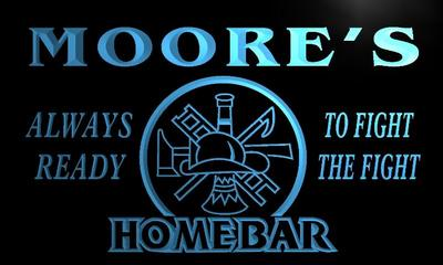 x1009-tm Moores Home Bar Firefighter Custom Personalized Name Neon Sign Wholesale Dropshipping On/Off Switch 7 Colors DHL