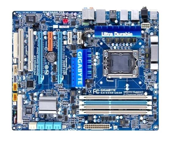 100% original All solid state motherboard for GIGABYTE GA-EX58-UD3R EX58-UD3R LGA 1366 DDR3 free shipping gigabyte ga p61 s3 motherboard h61 type all solid state large panel