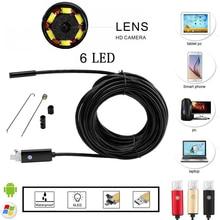 5.5 мм объектив 2 м 5 м 10 м USB OTG Android камера HD эндоскоп Мини камеры snaketube проверки USB Бороскоп скрытый endoscopio Spy