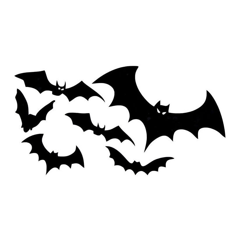 10*19CM Flocks Of BATS Floating Car Stickers Reflective Decals Personalized Car Stickers Bat CT-766