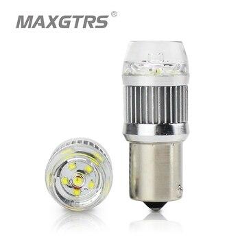 2x Высокая мощность S25 1156 CREE Chip XBD P21W BA15S светодиодный лампочка для авто парковки задним тормозом противотуманные задние фары лампы кристаллические линзы
