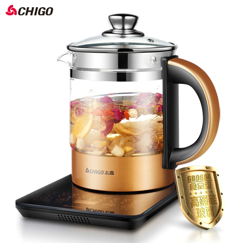 Thick glass automatic Health Preserving Pot stainless steel Electric Kettle 24h reservation LED 1.5L 800W bear health preserving pot full automatic thick glass multifunctional electric kettle tea pot ysh b18w2