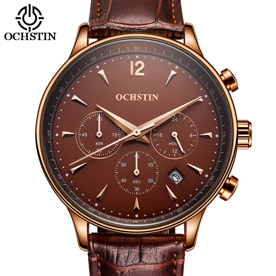 Top Brand Luxury Watch Men Quartz Chronograph Clock Casual Sport Military Watches Leather Man Wristwatch Male Relogio Masculino  julius top brand luxury men watch leather business quartz wristwatch sport military male boys watches relogio masculino montre