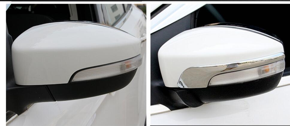 New 2pcs Bright Side Rearview Molding Cover Trim For Ford Escape Kuga 2013 14