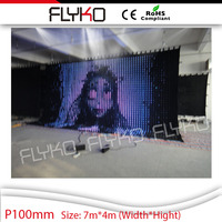 led furniture parts led display screens led video curtain