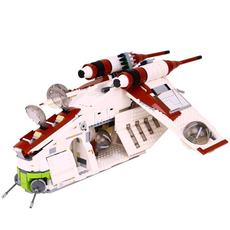 Star LEPIN 05041 1175pcs Wars Building Blocks Bricks set Coruscant Police Gunship Compatible LegoINGlys 75021 for Christma Gift набор плетение из фольги диадема 50041 05041