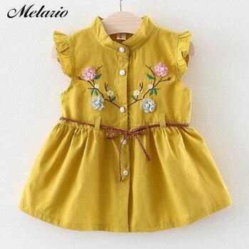 Melario Baby Girls Dress 2019 Fashion Kids Dresses for Girls Autumn Floral Children Dress Cotton Girl Dress Spring