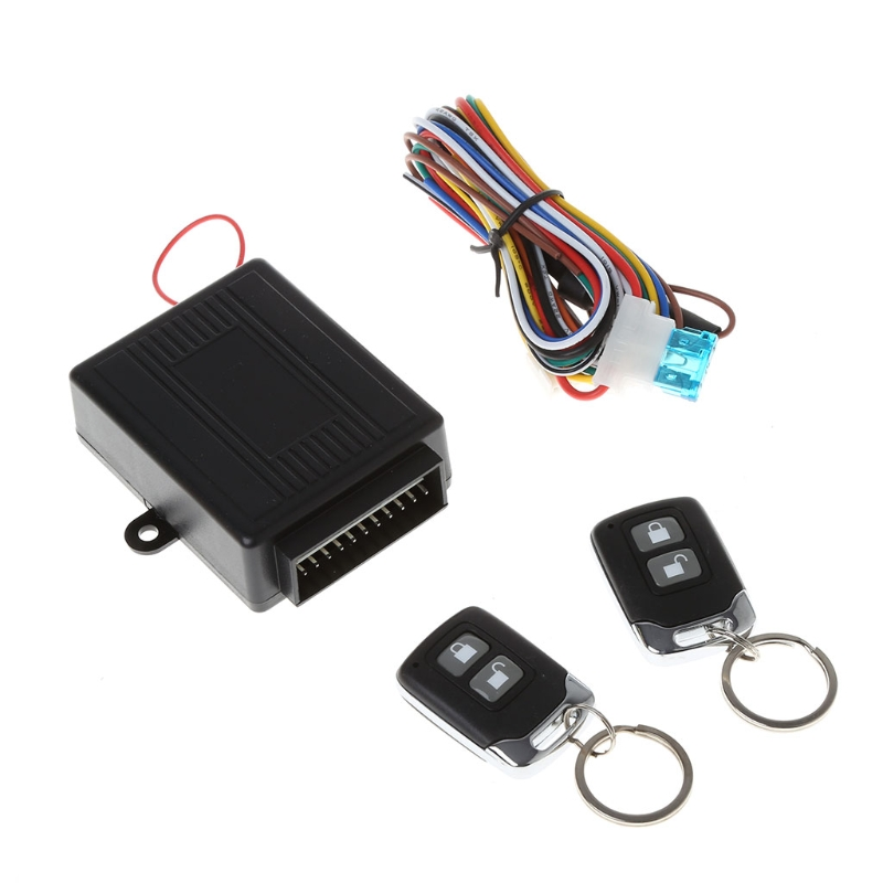 Universal Car Alarm Systems Auto Remote Central Kit Door Lock Locking Vehicle Keyless Entry System with 2 Remote Controllers