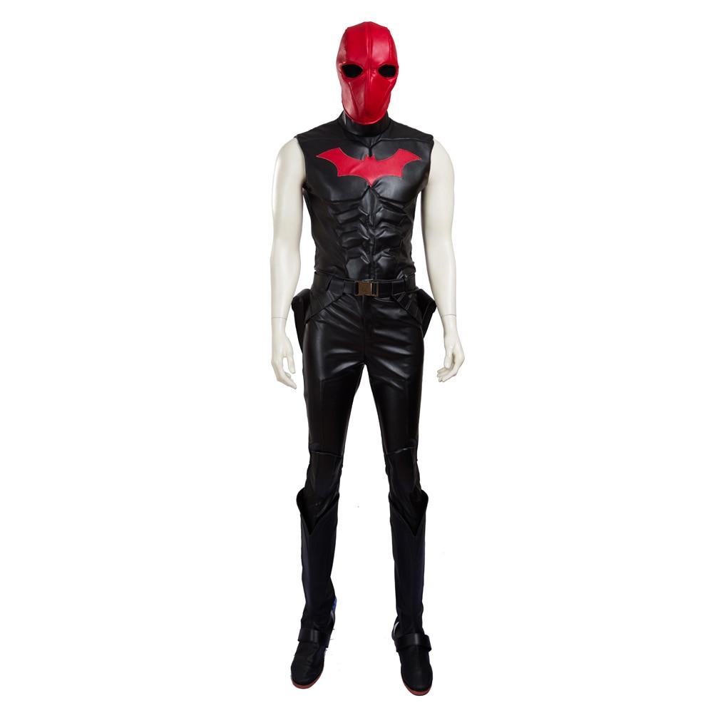 manluyunxiao high quality batman jason todd costume red hood cosplay costume halloween costumes for men customjpg