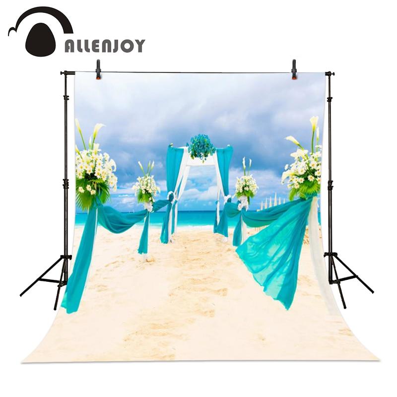 Allenjoy 6.5ftx10ft wedding bouquet sky blue sea beach Background Photography backdrops Studio For baby Interior romantic summer blue sky чаша северный олень