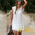 5XL 2016 Plus Size Women Clothing 2016 Autumn Summer Dress Blcak White Casual Dress Large Size Lace Dress Party Dresses Vestidos