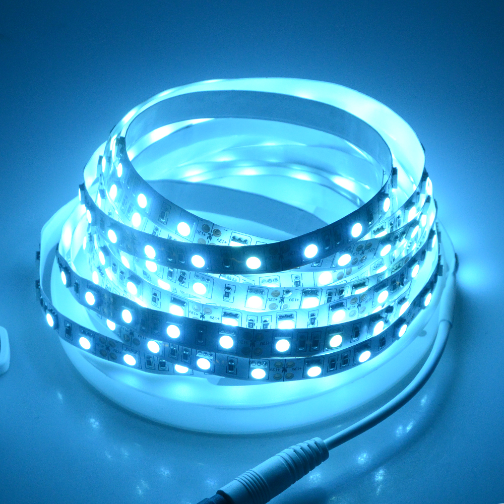 adapter dc smd strip display itm white led flexible warm tape cool light